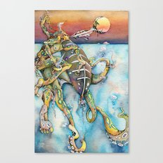 Zulu Blue Ringed Octopus Canvas Print