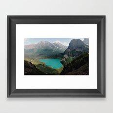 Grinnell Lake, Glacier National Park Framed Art Print