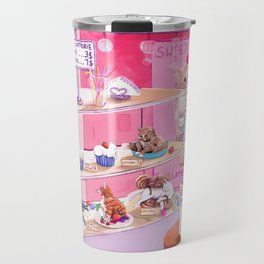 Cutie Catterie - sweet kitty bakery Travel Mug