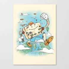 Mr Globetrotter Canvas Print