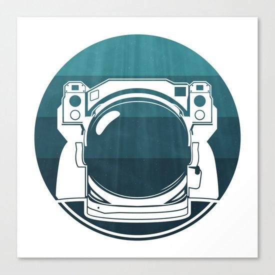 Underwater Astronaut Canvas Print