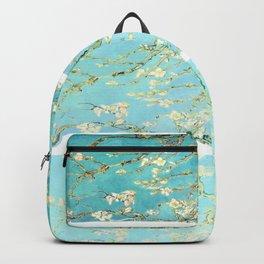 Vincent Van Gogh Almond Blossoms  Panel arT Aqua Seafoam Backpack