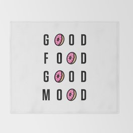 Good Food Good Mood Throw Blanket