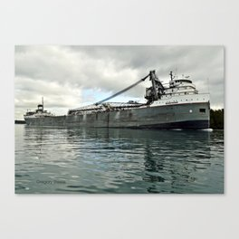 Saginaw Freighter Canvas Print