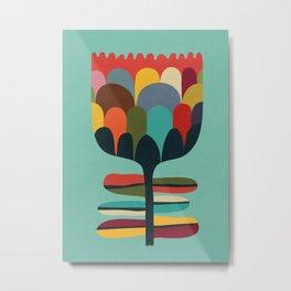 Flower Poet Metal Print
