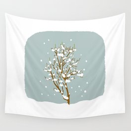 Snow scene Wall Tapestry