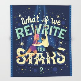 Rewrite the stars Throw Blanket