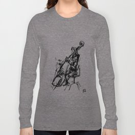 Playing the contrabass Long Sleeve T-shirt