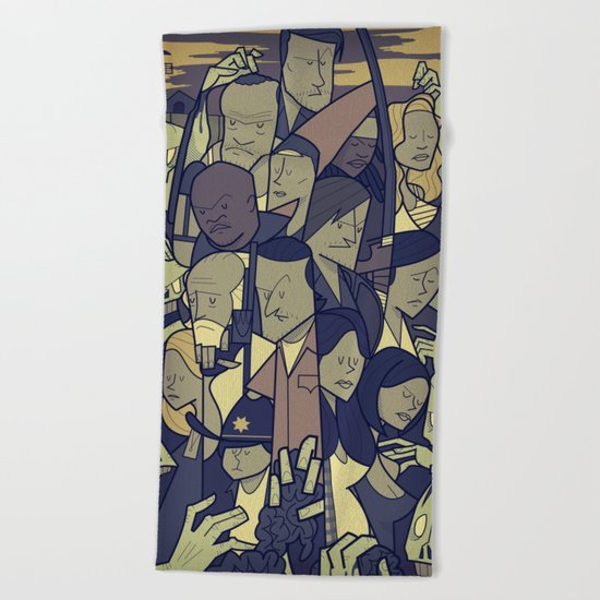 The Walking Dead Beach Towel