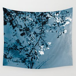 Spring Synthesis in Monochrome Wall Tapestry