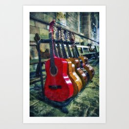 Guitar Love Art Print