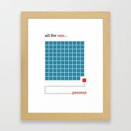 1% Framed Art Print