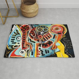 You are here with me street art graffiti Rug