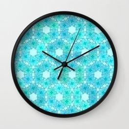 Aqua Lotus Wall Clock