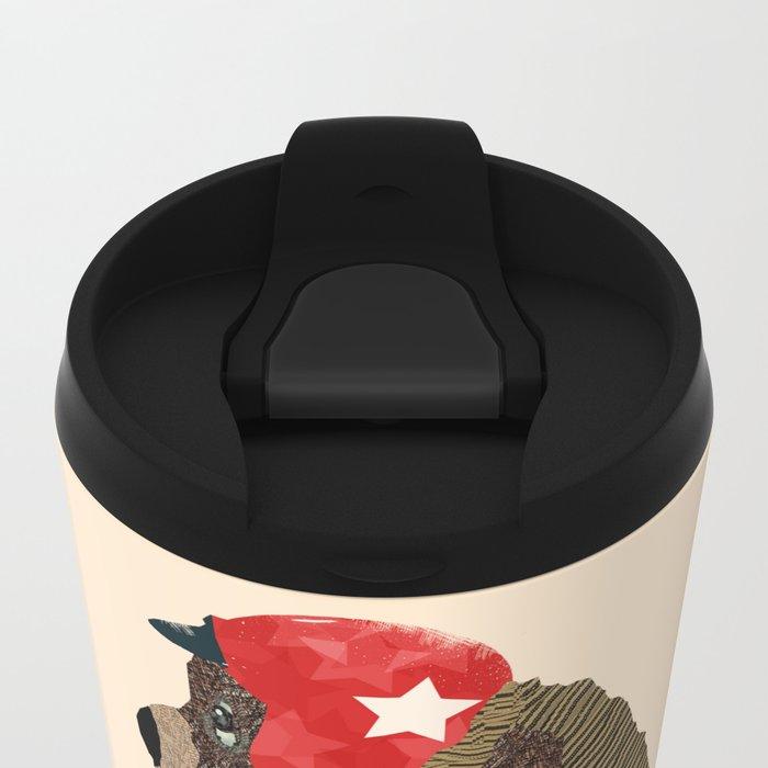 scooter bear Metal Travel Mug