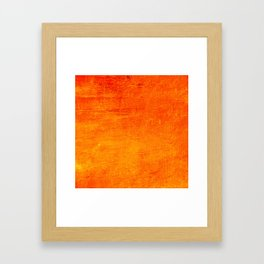 Orange Sunset Textured Acrylic Painting Framed Art Print