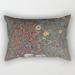 Country Garden with Sunflowers - Gustav Klimt Rectangular Pillow