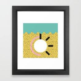 Memphis Style N°3 Framed Art Print