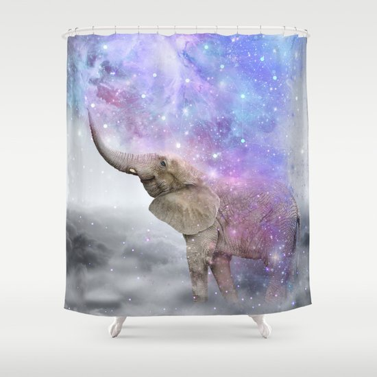 Don't Be Afraid To Dream Big • (Elephant-Size Dreams) Shower Curtain