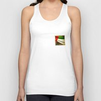 arab Tank Tops featuring Grunge sticker of United Arab Emirates flag by Lulla