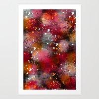 splatter Art Prints featuring Splatter by KRArtwork