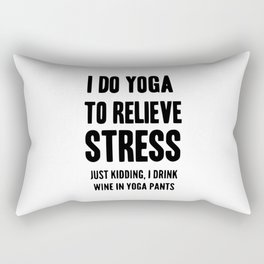 i do yoga Rectangular Pillow