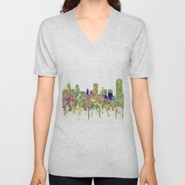 Buffalo, New York Skyline SG - Faded Glory Unisex V-Neck