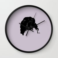 audrey Wall Clocks featuring Audrey by Jeanne Bornet