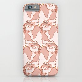 Happy Dog Group Pattern Vector iPhone Case