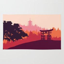 Japanese landscape Rug