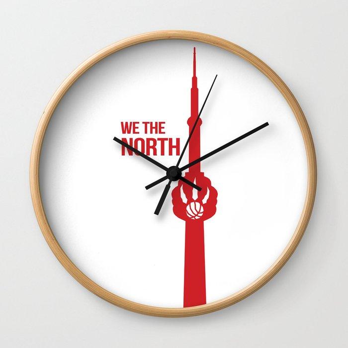 We The North Toronto Raptors Wall Clock By Diveshsehgaldesign
