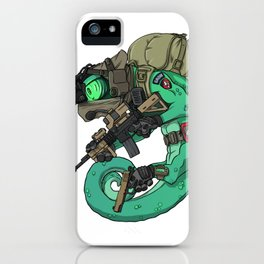 Chameleon Special Force Military with guns gift ideas iPhone Case