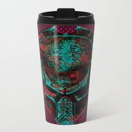 Soldier Predator Red Teal Travel Mug