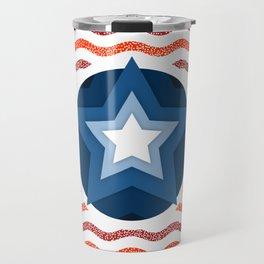 034 american flag interpretation Travel Mug