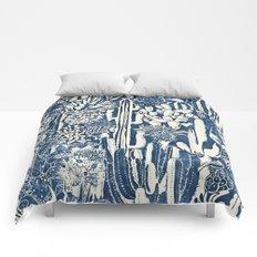 Indigo cacti Comforters