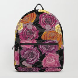 Pink & Yellow Roses Backpack