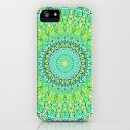 Green Geometric Mandala 0118 iPhone Case
