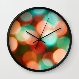 Abstract holiday background Wall Clock