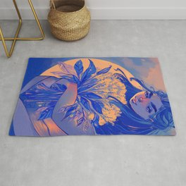 Happiness blooms from within Rug