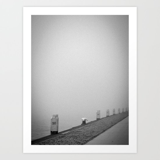 Walking in the mist..... Art Print