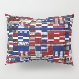 Simultaneous Love and Loathing (P/D3 Glitch Collage Studies) Pillow Sham