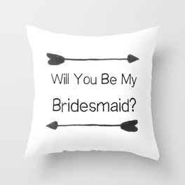 Bridesmaid Proposal Throw Pillow