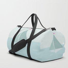 Peaceful seascape with sailboats Duffle Bag