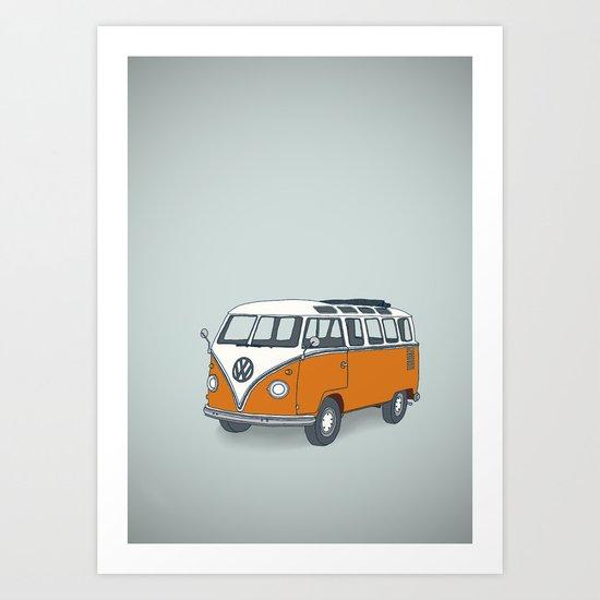 VW Campervan Art Print