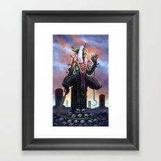 Harvester of Skulls Framed Art Print
