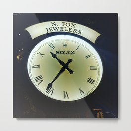 Rolex Clock Metal Print