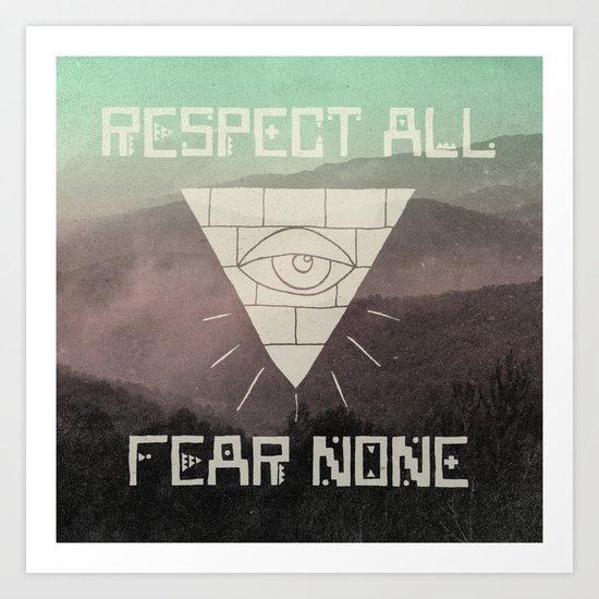 FEAR NONE Art Print