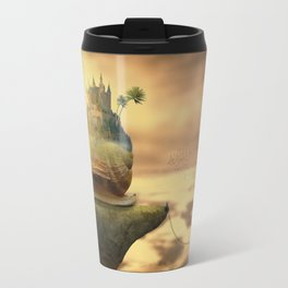The Snail With The Castle Back Pulls The World Travel Mug