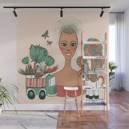 succulents planted in toys Wall Mural
