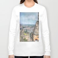edinburgh Long Sleeve T-shirts featuring Edinburgh Castle by Christine Workman